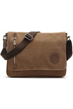Newchic Men Canvas Casual Business Outdoor Sport Shoulder Bags Leisure Crossbody Bags