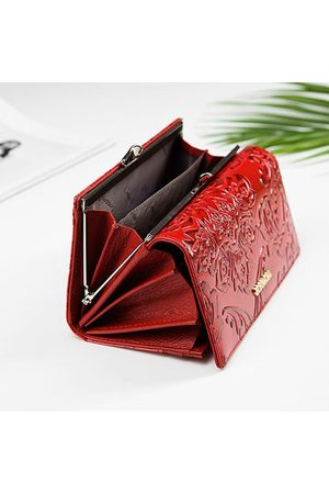 Newchic Brenice Embossed Long Wallets Hasp Clutches Bags Card Holder