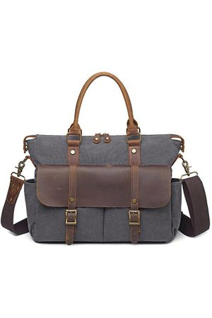 Newchic Vintage Canvas Outdoor 14 inch Laptop Bag Crossbody Bag