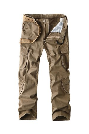 Newchic 100% Cotton Multi-pocket Cargo Pants