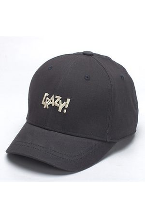 Newchic Men Caps - CRAZY Letter Embroidery Solid Color Baseball Cap