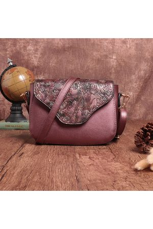 Newchic Brenice Vintage Embossed PU Leather Floral Crossbody