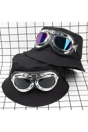 Newchic Glassess Pattern Foldable Fisherman Hat
