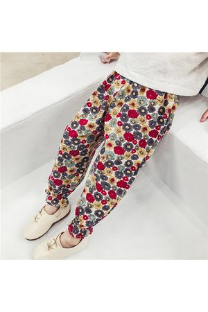 Newchic Girls Pants - Girls Spring Autumn Floral Pants