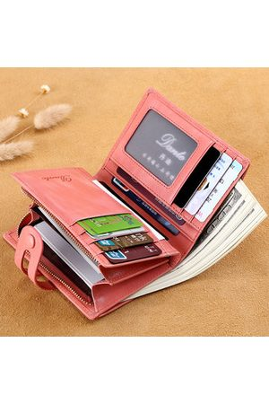 Newchic Genuine Leather Women Small Wallet