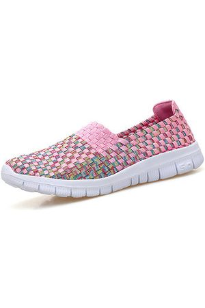 Newchic Girls Casual Shoes - Breathable Woven Colorful Casual Shoes