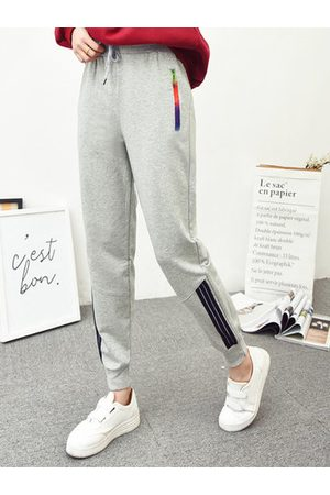 Newchic Casual Solid Elastic Waist Drawstring Sport Pants
