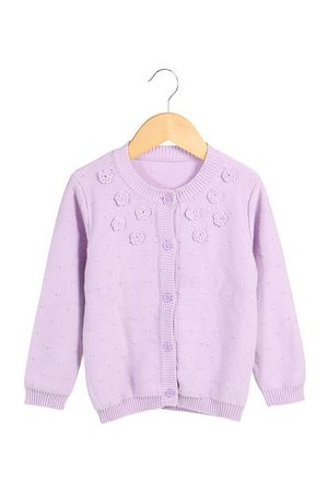 Newchic Girls Candy Color Knitted Cardigan
