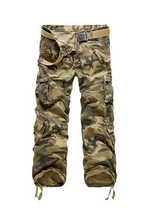Newchic Camouflage Casual Cotton Cargo Pants
