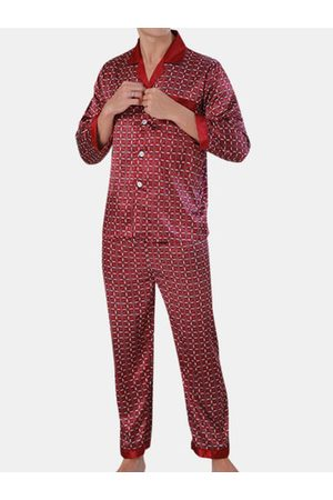 Newchic Mens Faux Silk Sleepwear