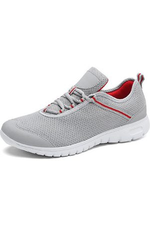 Newchic Men Casual Shoes - Men Large Size Breathable Lace Up Hiking Casual Sneakers