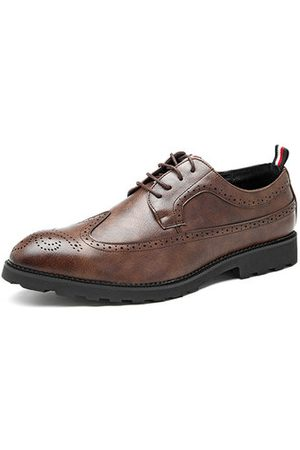 Newchic Men's Carved Brogue Lace Up Oxfords