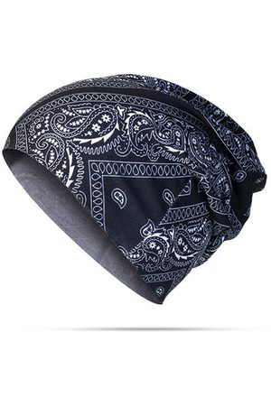 Newchic Men Caps - Fullprint Beanie Cap Multi-function Scarf