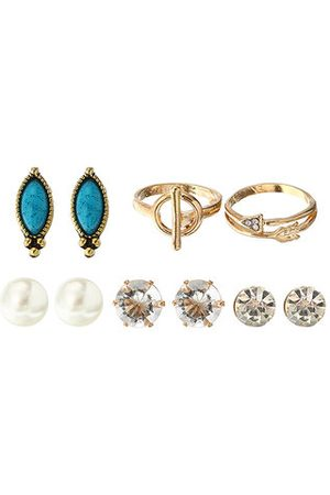 Newchic Turquoise Earring Ring Sets