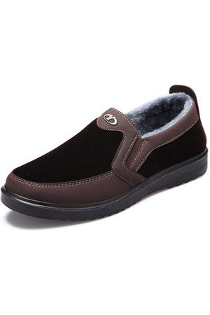 Newchic Men;s Warm Plush Lining Slip On Casual Shoes