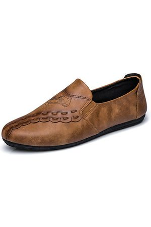 Newchic Men Loafers - Men British Style Retro Sewing Breathable Lazy Flat Slip On Casual Loafers