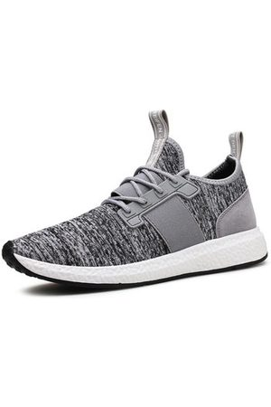 Newchic Men Casual Shoes - Men Knitted Fabric Elastic Panels Lace Up Casual Sneakers