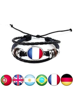 Newchic Bracelets & Bangles - Unisex National Flag Pattern Leather Bracelet