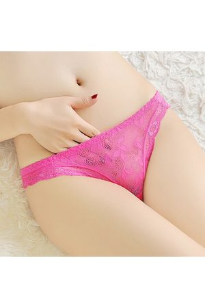 Newchic Sexy Lace Jacquard Transparent Hollow Thongs