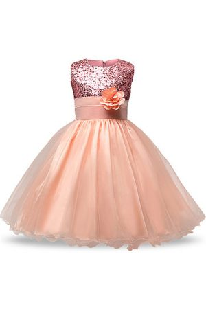 Newchic Girls Dresses - Sequins Tulle Girl Party Pageant Dress