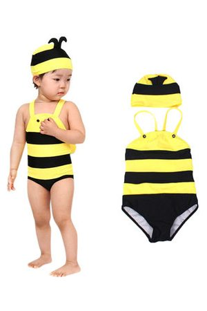 Newchic Girl Swimwear One Piece with Hat