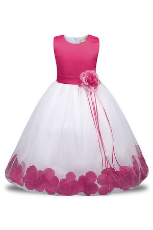 Newchic Flower Petal Girl Party Pageant Dress
