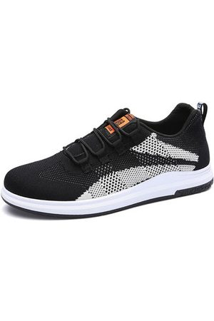 Newchic Men Breathable Knitted Fabric Anti-collision Casual Sneakers