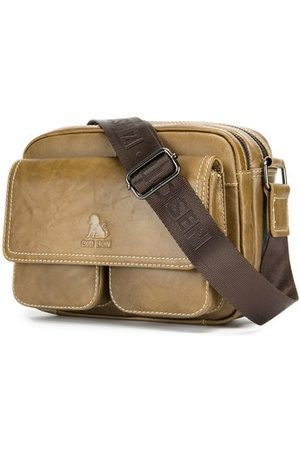 Newchic Men Laptop Bags - Genuine Leather Vintage Business Shoulder Bag Crossbody Bag