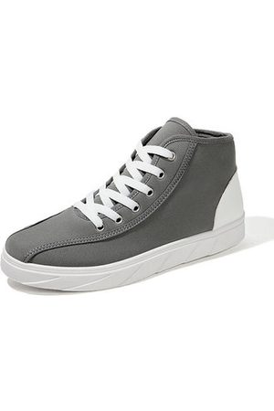 Newchic Men Classic Canvas Splicing Trainers Lace Up Casual Skateboa
