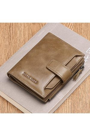 Newchic Genuine Leather Driver License 14 Card Slots Trifold Wallet