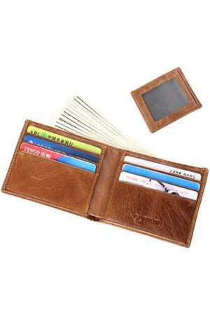 Newchic Vintage Casual Genuine Leather Bifold Wallet For Men