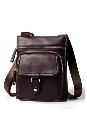 Newchic Men Laptop Bags - Vintage Business Multi-functional Shoulder Crossbody Bag