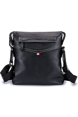 Newchic Genuine Leather Business Men Shoulder Bag Crossbody Bag