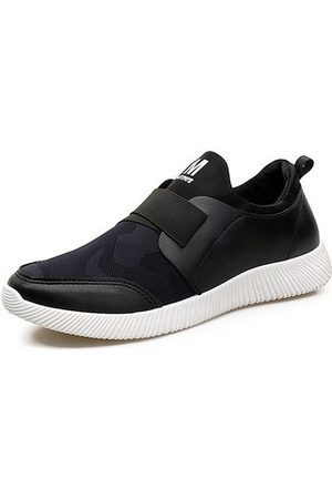 Newchic Men Casual Shoes - Men Elastic Panels Breathable Mesh Fabric Slip On Casual Running Sneakers