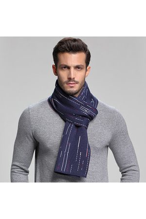 Newchic Mens Business Stripe Warm Wool Blend Scarves