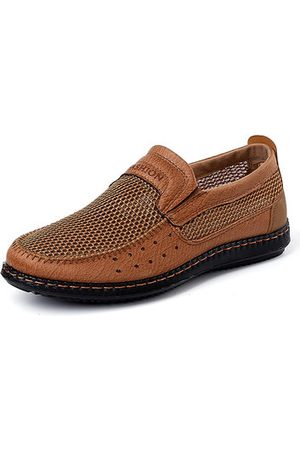 Newchic Men Breathable Hand Stitching Old Peking Casual Shoes