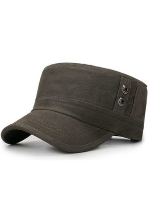 Newchic Men Breathable Sunshade Flat Top Military Cap