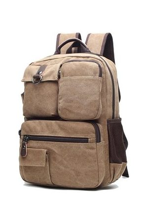 Newchic Men Rucksacks - 35L Vintage Canvas Outdoor Travel Backpack For Men