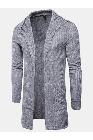 Newchic Mens Stripe Hooded Cardigans