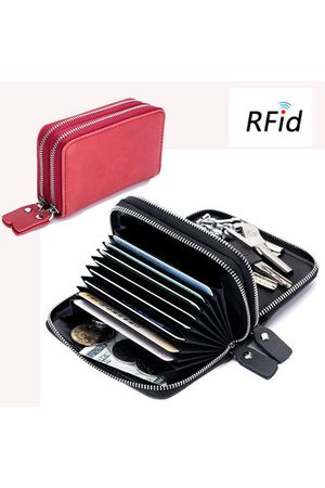 Newchic Women Men RFID Genuine Leather Multifunctional Card Holder