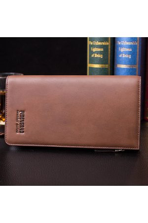 Newchic Men PU Casual Long Wallet 11 Card Slot Card Holder