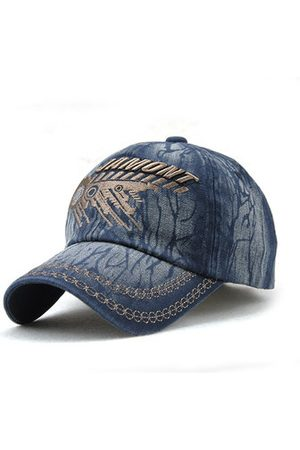 Newchic Men Cotton Vintage Washed Baseball Cap Adjustable Embroidery Golf Snapback Hat