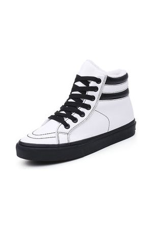 Newchic M.GENERAL Black And White Stripe Boots