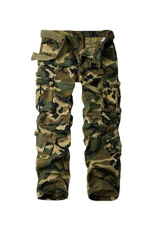 Newchic 100% Cotton Multi Pockets Cargo Pants