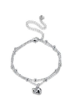 Newchic YUEYIN Women's Anklet Elegant Silver Bell Anklet