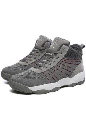 Newchic Men Casual Shoes - Men Knitted Fabric Warm Plush Lining Casual Sneakers