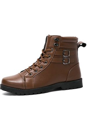 Newchic Men Leather Slip Resistant Lace Up Casual Boots