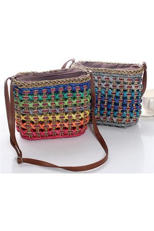 Newchic Casual Straw Costrast Color Crossbody Bag Shoulder Bags Phone Bags Travel Bag
