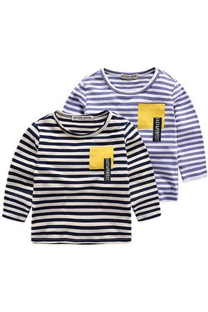 Newchic Boys Long Sleeve Tops Striped