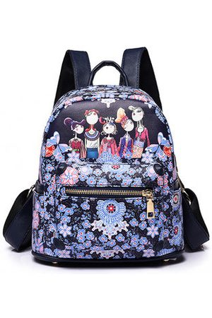 Newchic Women Bohemian Forest Series Floral Print Backpack 2 Size